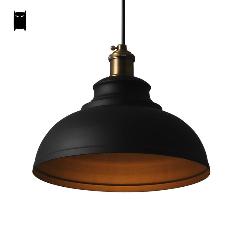 White Black Cover Shade Pendant Light Cord Fixture Loft Vintage Industrial Retro Iron Hanging Lamp Luminaria Bar Cafe Kitchen new loft vintage iron pendant light industrial lighting glass guard design bar cafe restaurant cage pendant lamp hanging lights