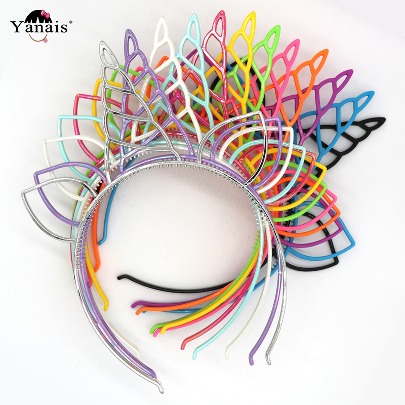 12pcs/lot  Unicorn Party Hair Accessories Mix Color Hairbands For Women Girls Christmas Birthday Gift Cat Ears Headband For Kids
