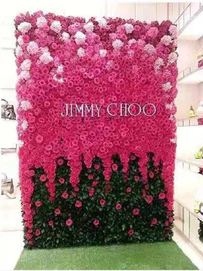 Imitation cherry blossom tree branch trigeminal with green leaf fake blossoms wedding decoration living room
