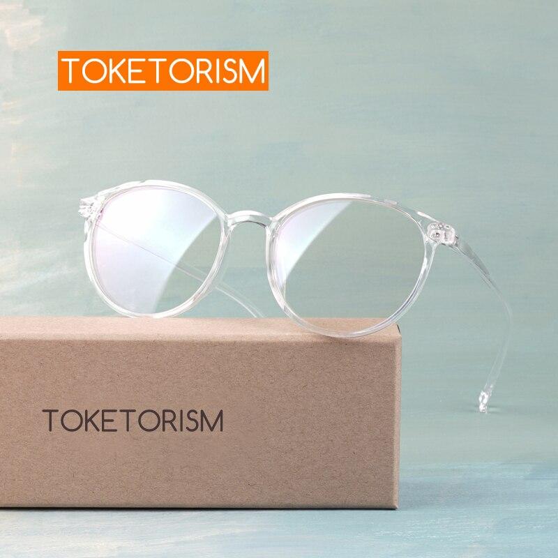 Toketorism Vintage Female Eyeglass Frame Clear Lenses Transparent Glasses For Women 6042