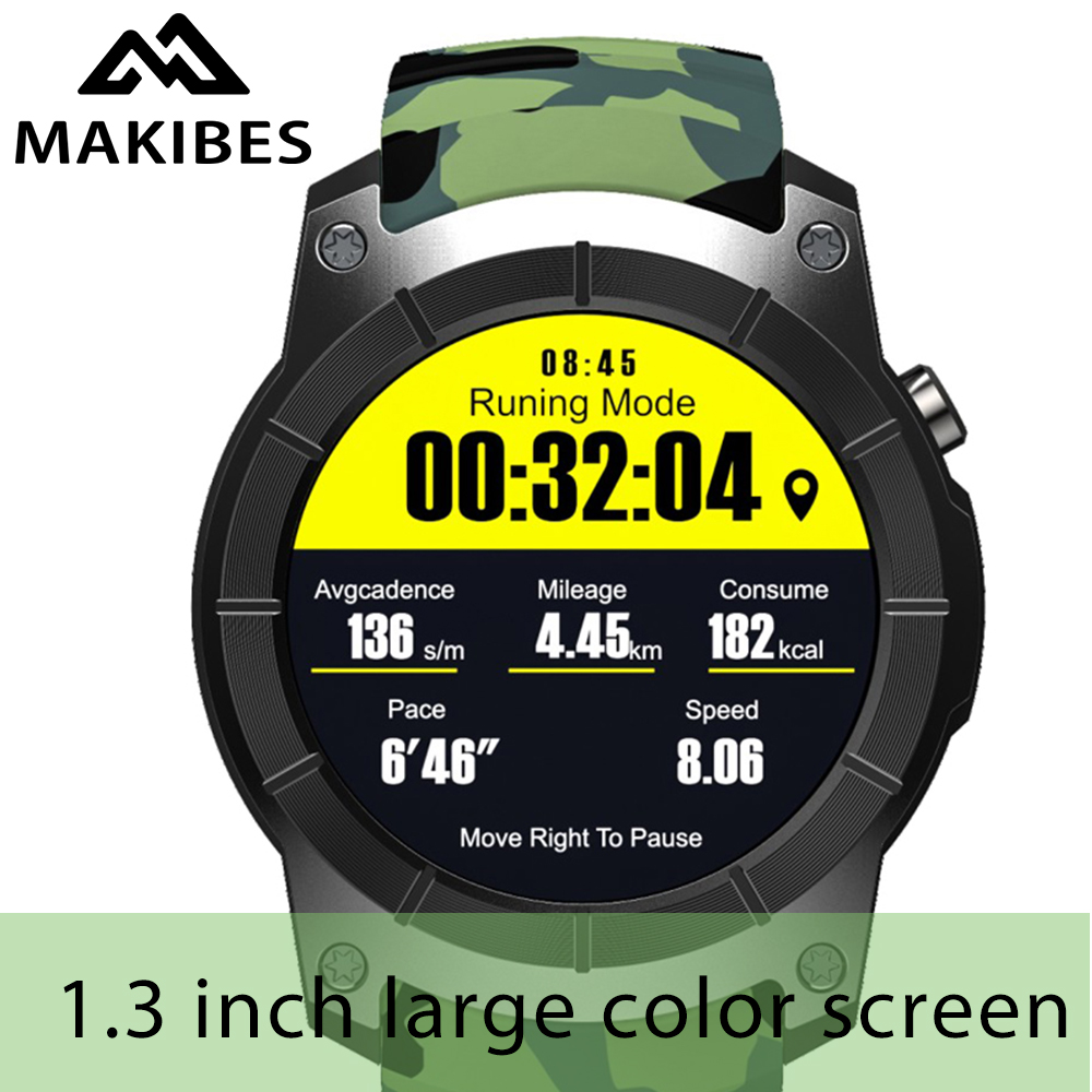 6 usd Coupon G05 PIÙ GPS 'Orologio Sportivo 1.3 ''camouflage Schermo a Colori Orologi Smart Orologio Da Polso Bluetooth 4.0 Supporta SIM card