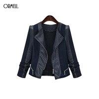 ORMELL New Ladies Xe Máy PU Leather Áo Khoác Phong Cách Coat Hot Dài Tay Outwear Thương Hiệu Mỏng Giản Dị Dây Kéo Tops Bán Buôn