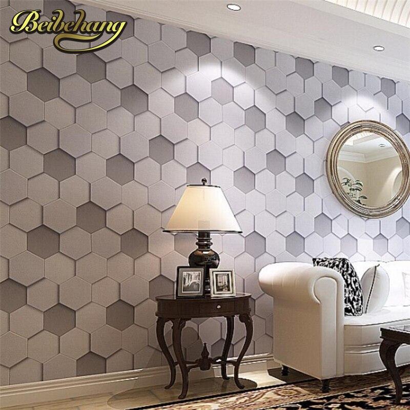 Beibehang haute qualité luxe réaliste PVC vinyle 3d papier peint rouleau gris beige chevet canapé tv fond mur papier peint wallcov