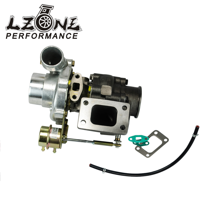 LZONE TURBOCHARGER T3/T4 INTERNAL WASTEGATE Water Cooled A/R:.60 cold,.63 hot t3 flange V BAND JR TURBO39