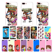 Gravity Falls Mabel Dipper pig soft tpu Funny cartoon case for iphone xs max x xr 5 6 7 8 6s plus 5s se phone cover Coque Funda(China)