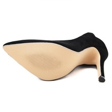 HiHopGirls 2017 New Hot Spring women stiletto Shallow Pumps Sexy Female Pointed toe Flock Slip-on high heels shoes woman Autumn