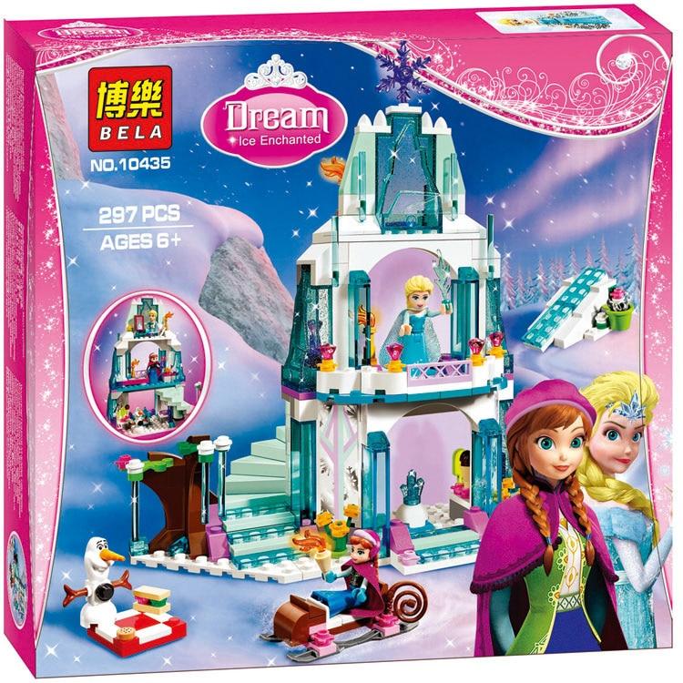 Hot 10435 JG301 Chica Amigos  Castillo de Hielo Espumoso de Elsa Anna Queen Elsa Kristoff Olaf Juguete de Construccion castillo linda gone missing