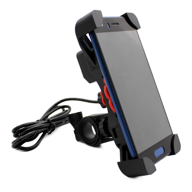Nuoxintr Universal Dual USB Motorcycle Charger Phone Socket Moto Motocross Bike Handlebar Holder Charger Power Adapter Outlet