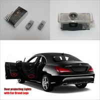 For Mercedes Benz CLA 2012 2013 Door Ghost Shadow Lights Car Brand Logo LED Projector Welcome