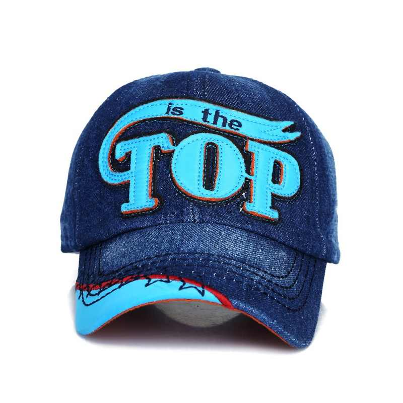 71a7d907764 ... Fashion TOP denim Baby Kids Baseball Cap snapback Hats Jean Boys Girls  sun Hat casquette for ...
