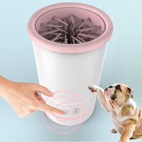 USB Rechargeable Pet Automatic Paw Cleaner Plunger For Dogs Grooming Soft Silicone Feet Washer Portable Dirty Cleaning Cup Brush