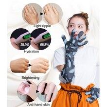 Увлажняющая маска для рук с экстрактом вулканической грязи, супер сглаживающие отбеливающие перчатки для рук, Антивозрастные и увлажняющие перчатки