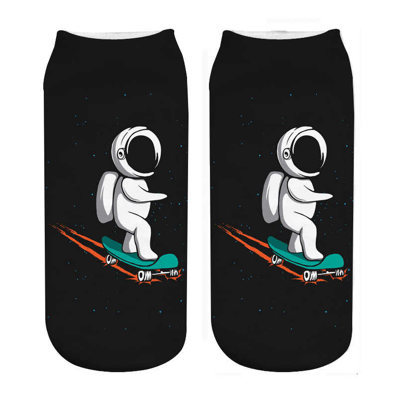 RUNNING CHICK astronauts scooter photo print socks new dropship