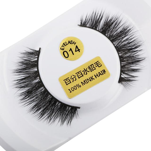 10e5c34a533 100%Real Mink Natural Thick False Fake Eyelashes Eye Lashes Makeup  Extension AB