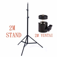 Photo Studio 6 6ft 2m Light Stand Foldable Phone Photography with Ball Head 1 4 Screw