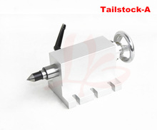 CNC tailstock 4 Axis,MT2 Rotary Axis Lathe Engraving Machine Chuck for Mini CNC router woodworking