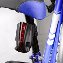 2 Laser+5 LED Popular Rear Bicycle Tail Light Beam Safety Warning Red Lamp Bike Accessories Super Bright Wholesale