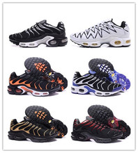2019 TN Mens Running Shoes New Black White Red Air Breathable Mesh Tns Classic Casual Sports Size 7-11