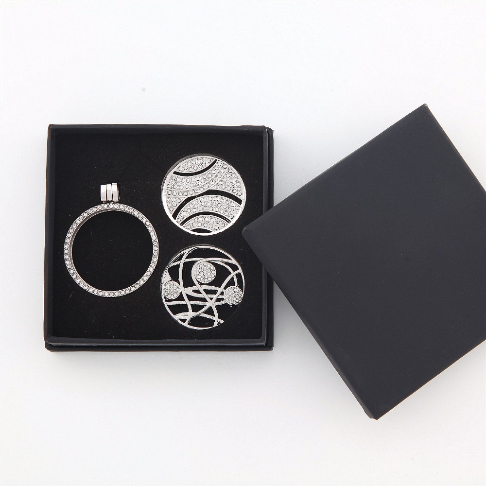 New Arrival 8cm*8cm Gift Box with Bubble template inside can fit 33mm My Coin Holder and 2pcs interchangeable Coins 20pcs/lot