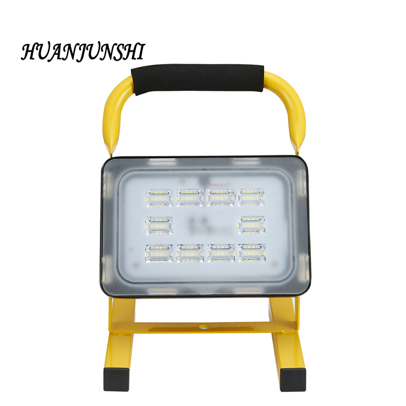 NEW HOT Portable Rechargeable Led Flood Light 10W 20W Waterproof IP65 Camping Lamp Outdoor Spotlight Floodlight With Car Charger t sunrise led flood light rechargeable portable for car tent emergency working light outdoor waterproof camping fishing lamp 20w
