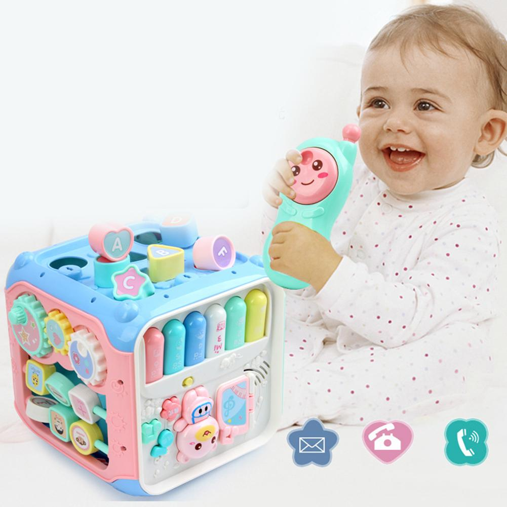 Multifunction Musical Drum Activity Cube Musical Toys Shape Blocks Sorter Education Kids Toys Music Instruments For Kids