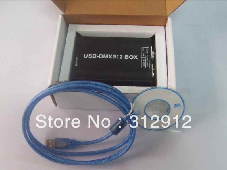 USB-DMX512 controller;with USB interface for computer  usb dmx512 controller computer connect with usb control led lamps dmx512 channels input output support windows xp 2000 98se sys