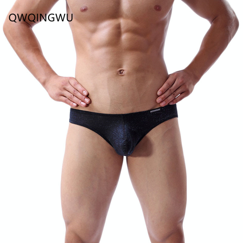 <font><b>Sexy</b></font> <font><b>Gay</b></font> <font><b>Underwear</b></font> <font><b>Men</b></font> Briefs Shorts homme <font><b>Shiny</b></font> Elastic Convex Pouch Low Waist Panties Male Underpants Calzoncillos Cueca Brief image