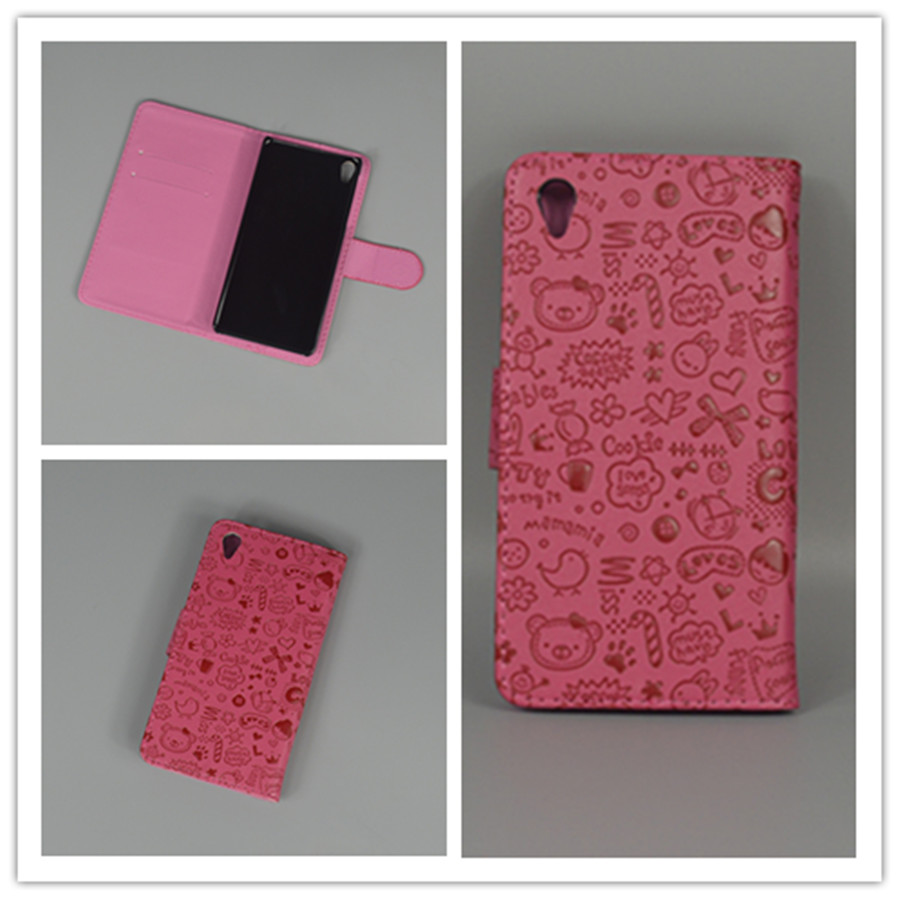 little watch Cute Leather Case Cove hold two Cards with 2 Card For Sony Xperia E5 Sony Xperia E5 F3313 F3311 free shipping