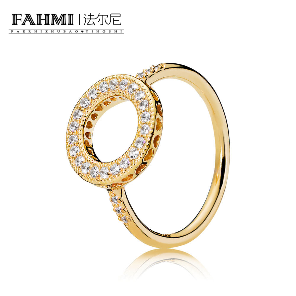 FAHMI 100% Sterling silver 1:1 Glamour 167096CZ Shine Hearts of Halo Ring Original Women wedding Fashion Jewelry 2018FAHMI 100% Sterling silver 1:1 Glamour 167096CZ Shine Hearts of Halo Ring Original Women wedding Fashion Jewelry 2018