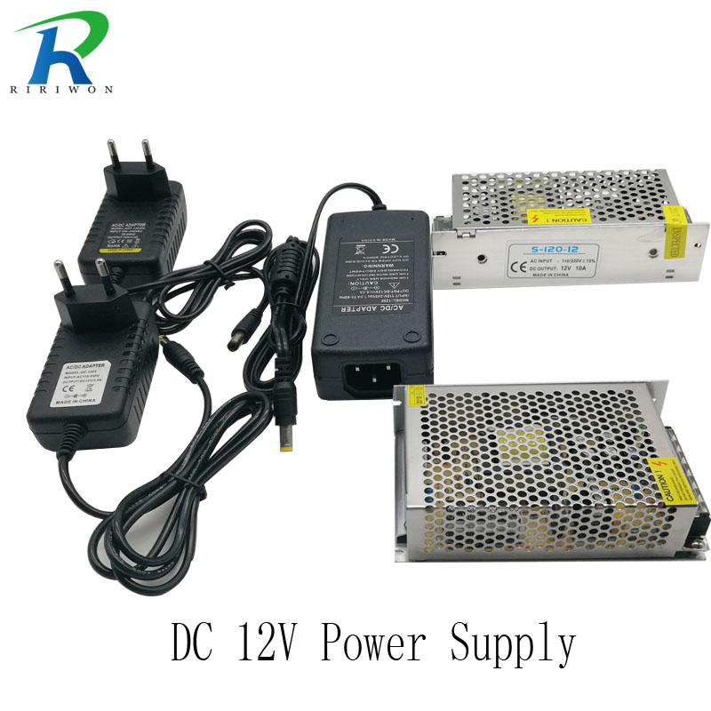 RiRi won 2A 3A 4A 6A led power supply adapter Lighting Transformers switching DC 12V power adapter AC 110V-240V for led strip dc 12v 3a ac 100 240v led light power adapter led power supply adapter drive for 5050 2835 led strip 12v3a without line real 3a