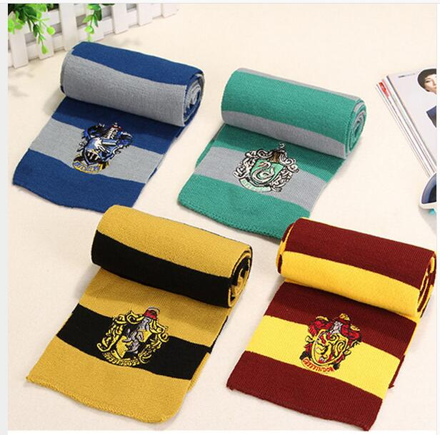 Best Gift Scarves Gryffindor Slytherin Hufflepuff Ravenclaw Scarves Cosplay Costumes Halloween Gift Hermione Scarf