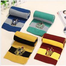 Лучший подарок шарфы Гриффиндор Слизерин Hufflepuff Ravenclaw шарфы маскарадные костюмы подарок на Хэллоуин Гермиона шарф