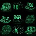 Os amantes do hip hop fluorescente graffiti snapback caps boné de beisebol dos homens mulheres casquette menino menina chapéu pular de volta osso aba reta