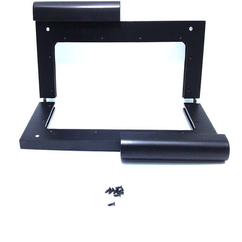 12.5 x 5 inches Black Wooden Purse Frame