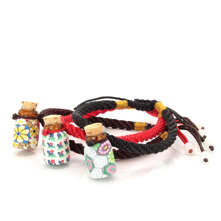 10 шт браслеты с маленькими цветочными стеклянными бутылками