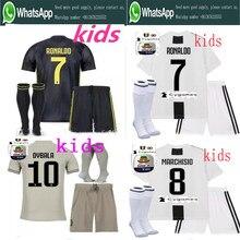 e29fd7651e5 2018 Serie A patch Quality RONALDO JUVENTUSES Soccer Jerseys kids kit+socks  18/19 Dybala Home Away Third Football Shirt kit+sock