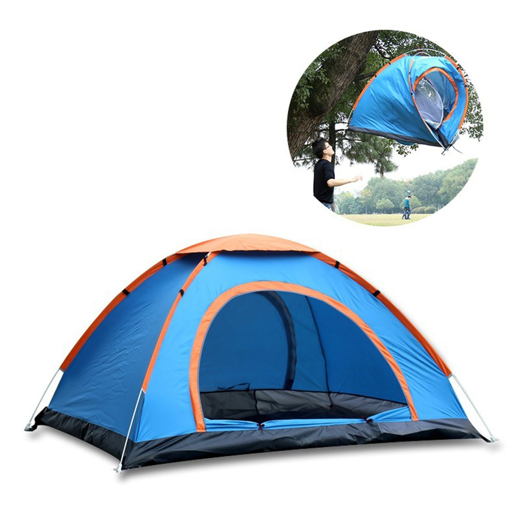2 Persons Fully Automatic Tent Portable Rainproof Tent Double Layers Outdoor Camping Hiking Fishing Tent New desertcamel thickened automatic tent portable rainproof three used tent double layers outdoor camping hiking tent drop shipping