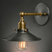 American bedside antique wall lamp industrial style wall lamp single head living room lamp retro fashion bar light