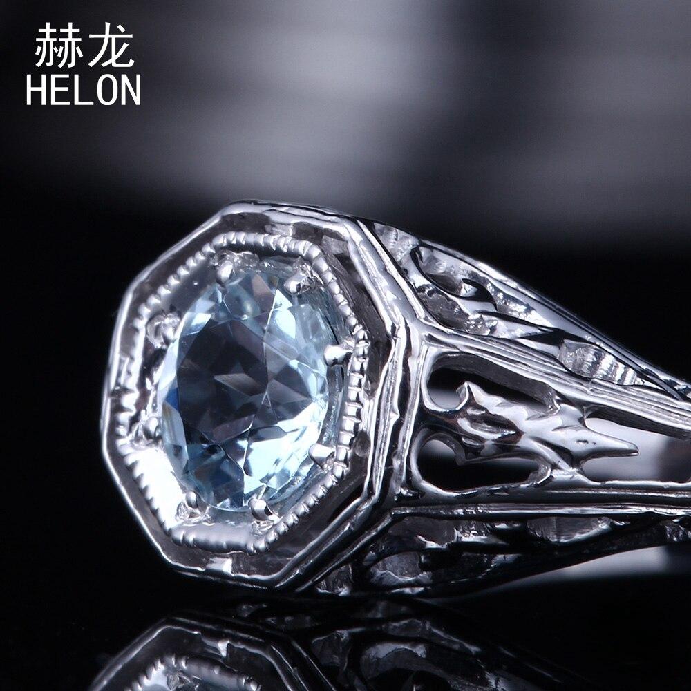 Aquamarine Ring 925 Sterling Silver Art Deco Vintage Antique Style Anniversary Solitaire Wedding Ring Fine Jewelry Women серьги art silver art silver ar004dwzmh30