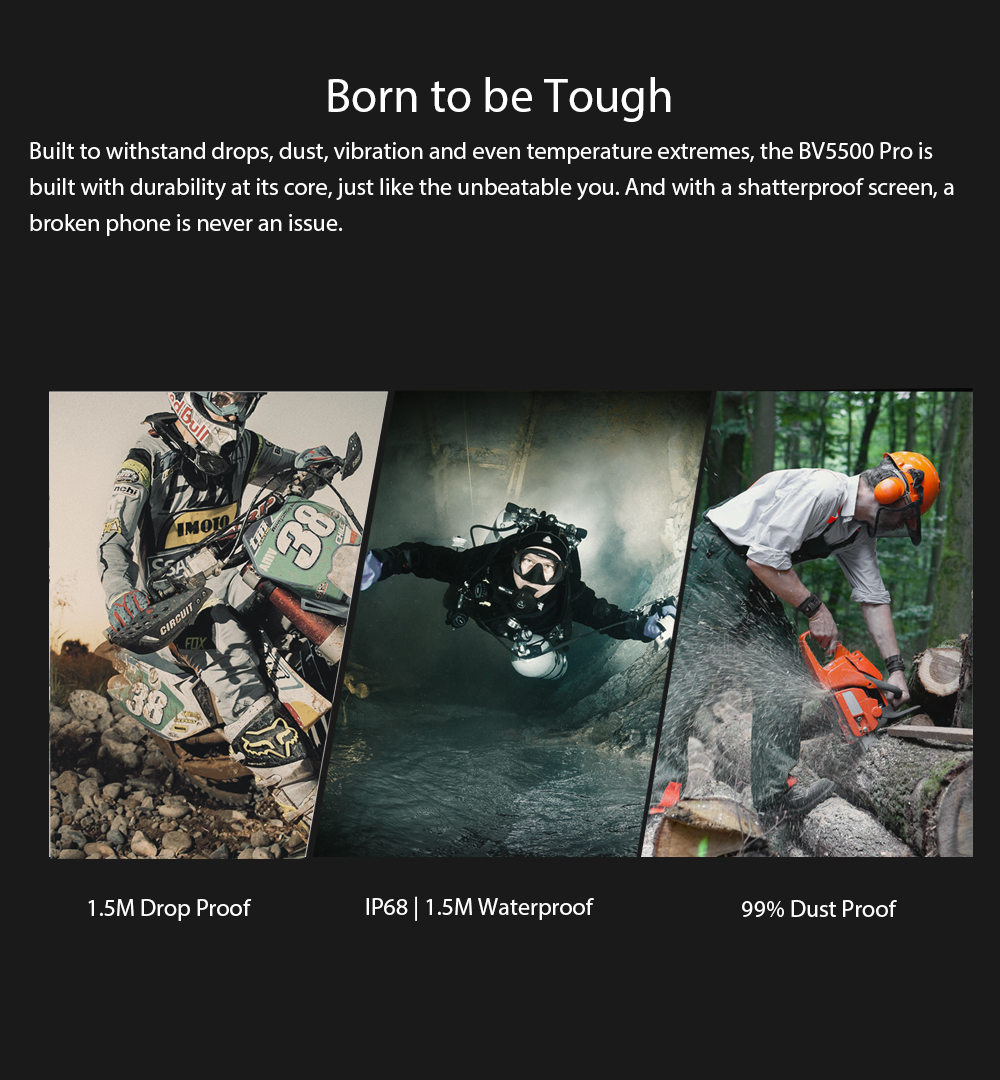 """Image 3 - Blackview BV5500 Pro Mobile IP68 Waterproof Smartphone 5.5"""" Screen 3GB RAM 16GB ROM Android 9.0 MT6739V Quad Core 1.5GHz 4G OTG-in Cellphones from Cellphones & Telecommunications"""