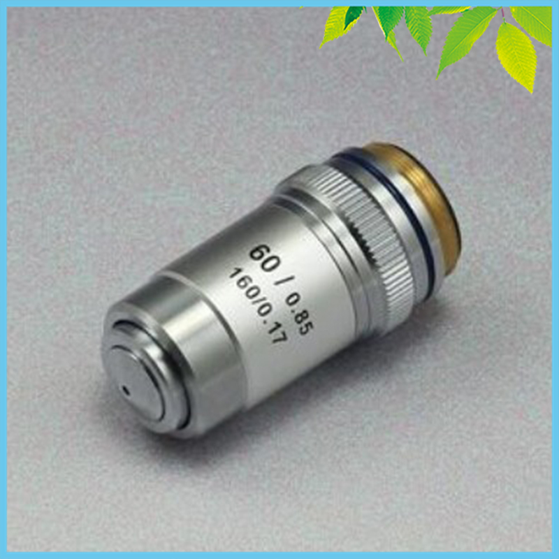 Conjugate Distance 195 Universal Metal 60X Achromatic Objective Lens for Biological Microscope