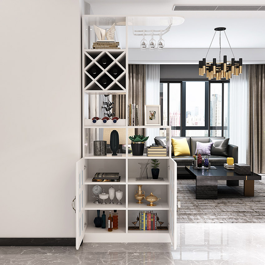 Modern Minimalist Multi Function One Cabinet Display Showcase Hotel Living Room Commercial Furniture Bar Wine Cabinet Decoration|Bookcases| |  - title=