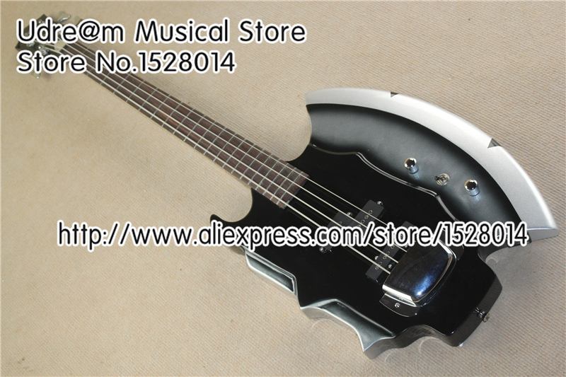 Nueva llegada Suneye AXE bajo guitarra 4 cuerdas y 21 Frets palo de rosa guitarra cuello para la venta