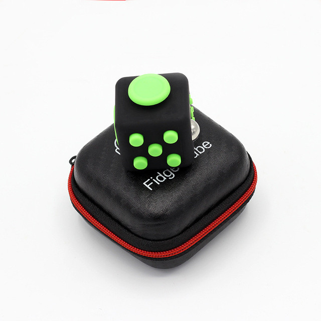 Size 3 3cm 1pc Fidget Cube Original Zipper Case A Vinyl Desk Toy Anti