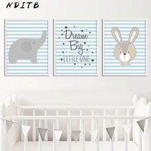 NDITB Woodland Animal Posters and Prints Baby Nursery Wall Art Canvas Painting Nordic Kids Decoration Picture Boys Bedroom Decor(China)