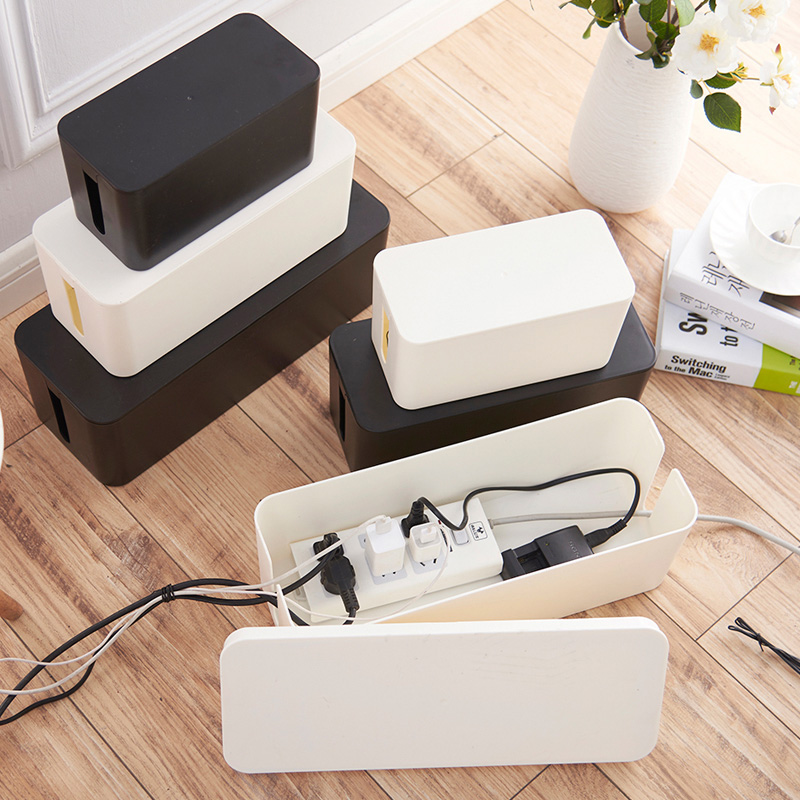 Plastic Wire Storage Box Cable Manager Organizer Box Power Line Storage Cases Junction Box Household Necessities 3 sizes(China)
