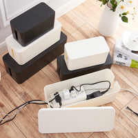 Plastic Wire Storage Box Cable Manager Organizer Box Power Line Storage Cases Junction Box Household Necessities 3 sizes
