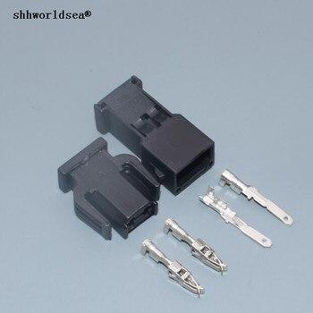 Shhworldsea 2-контактный Женский Мужской ABS датчик Автомобильный разъем для дверного светильника для VW 893 971 632/893 971 992