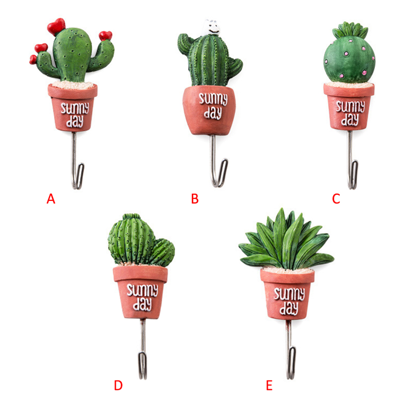 aliexpresscom buy christmas decorations practical hooks artificial cactus resin succulent shape adhesive wall hanger hanging bathroom kitchen from - Cactus Christmas Decorations