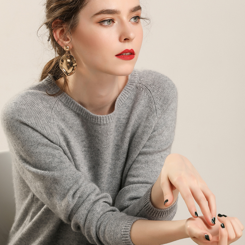 2018 Womens Winter 100 Cashmere Sweaters And Autumn Women Knitted Pullovers High Quality Warm Female Round